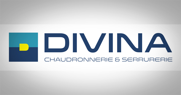 Le logo global Divina, typo, couleurs