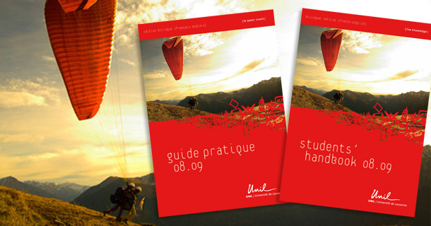 Guide pratique de l'étudiant Université de Lausanne © Benjamin Benetti Graphiste Illustrateur