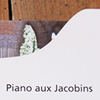 Invitation Piano aux Jacobins © Benjamin Benetti Graphiste Illustrateur (imprimé) - Benj.name graphiste Toulouse